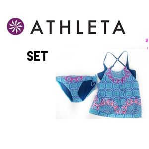 NEW ATHLETA FIJI BLOUSY TANKINI SWIM SET